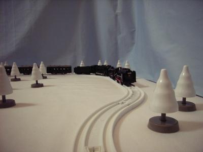 大雪原を行くC62